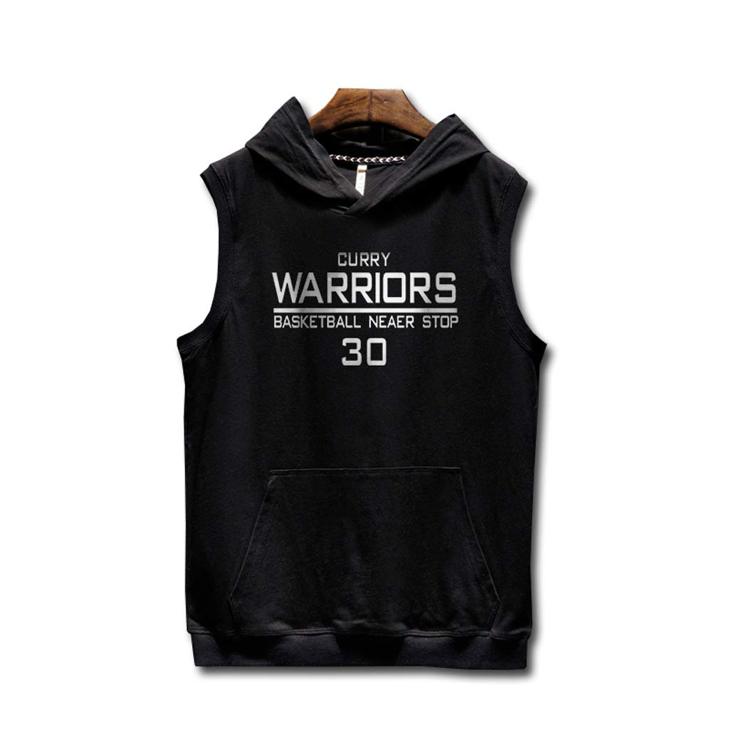 Remise en forme Hip Hop Golden State Warriors Stephen/·Curry T-shirt /à capuche sans manches Street Basketball Uniforme Formation Jersey Sport Tops Hommes Imprim/é Gilet