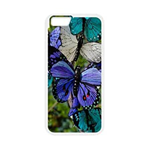High Quality Phone Back Case Pattern Design 19Colorful Butterfly- For Apple Iphone 6 Plus 5.5 inch screen Cases