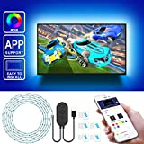 Led Strip Lights for TV with APP, Govee 6.56FT RGB LED TV Backlights 5050 TV Lights Kits, Multi DIY Color Accent LED Strips with 3M Tape and 5 Clips, Adjustable Brightness and USB Powered (40'-60')