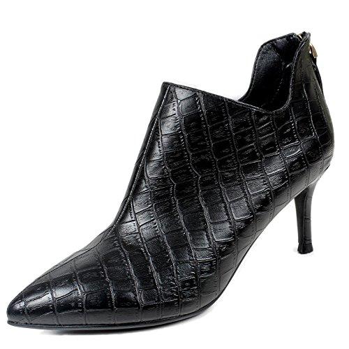 Bottes Un En black De Chaussures KHSKX Femelle Bien Et Talons Coréen Une Botte Cuir D'Hiver Identique Le Avec Coton Hauts gYTTpqdH