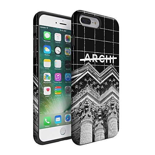 Not Archi Architect Paris Pantheon Apple iPhone 7 Plus Silicone Inner / Outer Hard PC Shell Hybrid Armor Protective Case (Pantheon Shell)