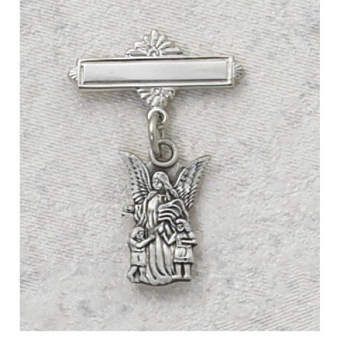 Sterling Silver GUARDIAN ANGEL BABY PIN/BOX