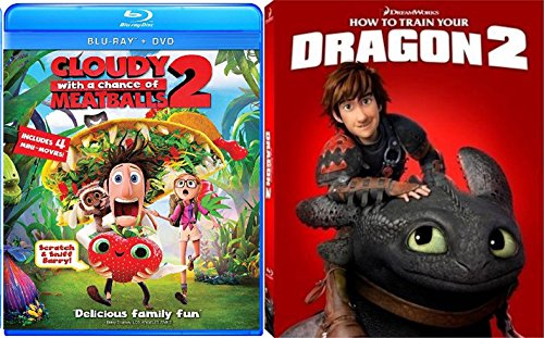 Cloudy with a Chance of Meatballs 2 & How To Train Your Dragon 2 Character Cover - Blu Ray + DVD Cartoons awesome Animated Set