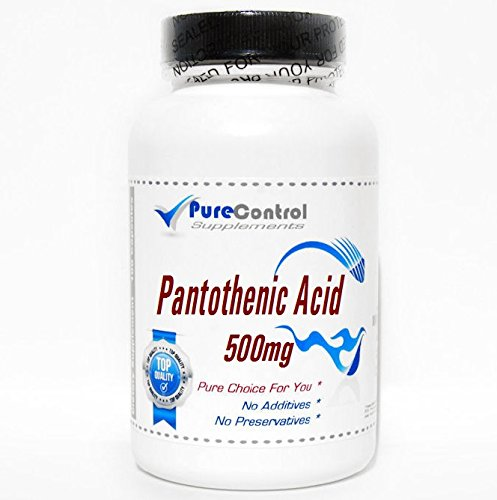 Pantothenic Acid 500mg // 200 Capsules // Pure // by PureControl Supplements by PureControl Supplements