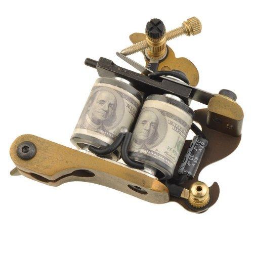 NEEWER® Golden Tattoo Machine Gun Shader Liner 10 Wrap Coils Alloy