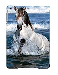 21120c14099 Crooningrose Awesome Case Cover Compatible With Ipad Air - Horses Ocean Waves
