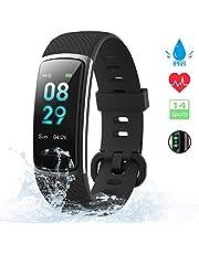 KUNGIX Fitness Armband, 0,96 Zoll Schrittzähler Uhr IP68 Wasserdicht Smartwatch Fitness Tracker mit Pulsmesser Herzfrequenz 14 Modi Smart Watch für Damen Herren iOS Android Kompatibel