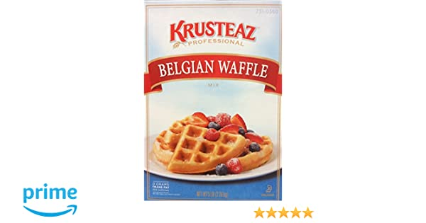 Amazon.com : Krusteaz BELGIAN WAFFLE Mix 5lbs. (2-Pack) Restaurant Quality : Grocery & Gourmet Food