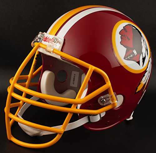 (Riddell Washington Redskins 1978-1999 NFL Replica Throwback Football Helmet w/NJOP Facemask)