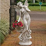 Design Toscano Lillian the Flower Fairy Oversized Garden Sculpture