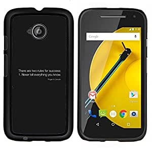 Stuss Case / Funda Carcasa protectora - Reglas del éxito - Motorola Moto E2 E2nd Gen