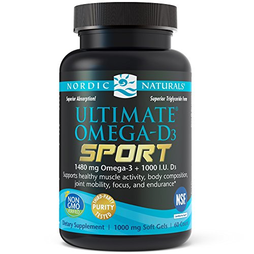Cheap Nordic Naturals – Ultimate Omega-D3 Sport, Supports Healthy Bones and Immunity, 60 Soft Gels
