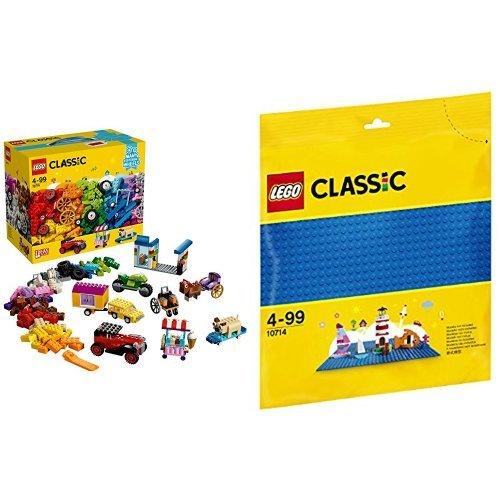 [해외] 레고(LEGO) 클래식 크리에이티브 박스<タイヤセット> 10715 & 클래식 기초 판(블루) 10714