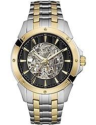 Bulova Mens Two Tone Automatic Bracelet Watch 98A146