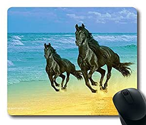 More Horses Running ,Rectangle mouse pad Your Perfect Choice by icecream design