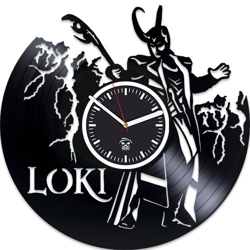 - Loki Vinyl Wall Clock, Wall Clock Modern, Loki & Thor Clock, Valentines Day Gift For Boy, Gift For Him, Wall Clock Vintage, Gift for Husband, Vinyl Record Clock, Kovides, Loki Vinyl Wall Clock