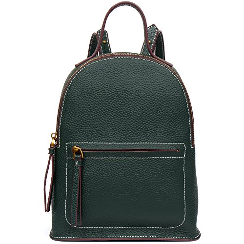 - [Back To School ] FIGESTIN Women Cowhide Leather Backpack Purse Mini Satchel School bags for College