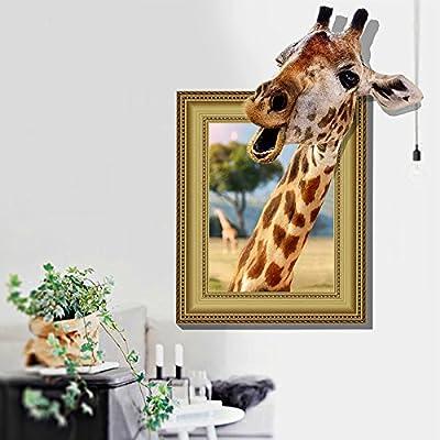 DNVEN Animal 28 inches x 37 inches DIY 3D Window Giraffe Animals Children Nursery Kids Room Wall Stickers Decals: Home & Kitchen