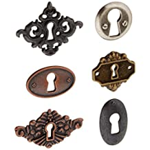 Prima Marketing Junkyard Findings Metal Embellishments, Key Holes, 6-Pack