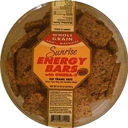 Sunrise Whole Grain 100% Natural Energy Bars with Omega-3