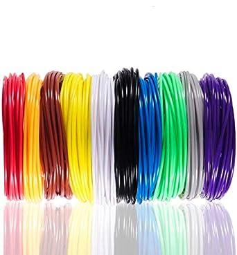 Material de la pluma de impresión 3D con 10 colores de recambios ...