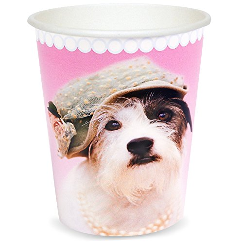 BirthdayExpress Rachael Hale Glamour Dogs Party Supplies - 9 oz. Paper Cups (8)