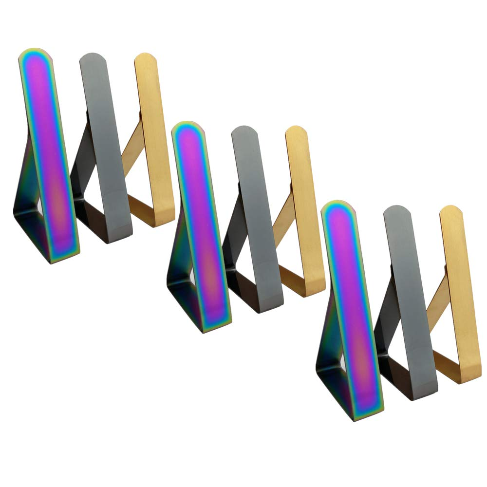 Haodeba Tischdeckenklammern aus Edelstahl Tischdeckenhalter f/ür Picknicktisch und Partys f/ür den Au/ßenbereich 3 helle Farben Picknick
