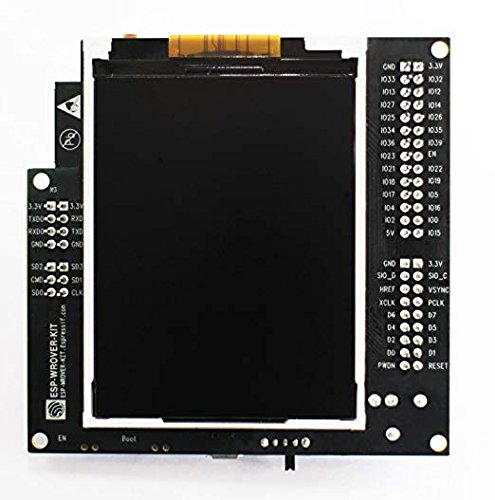 2.4 GHz Wi-Fi & BT/BLE Development Board compatible with ESP32 modules, ESP-WROOM-32 and ESP32-WROVER. Supports an LCD and MicroSD card.