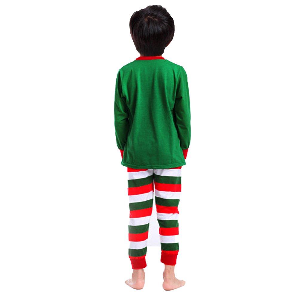 Adoy Kids Xmas Pajamas,Cuteadoy Unisex Xmas Pajamas Sets Tshirt+Pant+Hat Sleep Suit