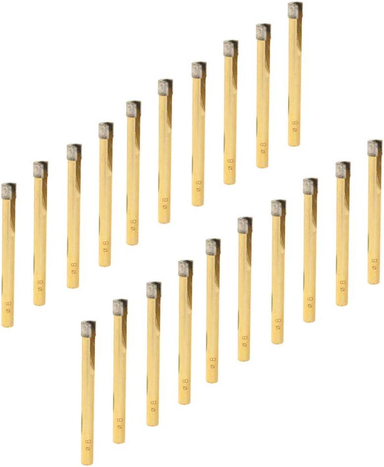 PETSOLA 20x Diamant Tr/épan De Tr/épan Vu Pour Tuile De Verre Multichoice 8mm