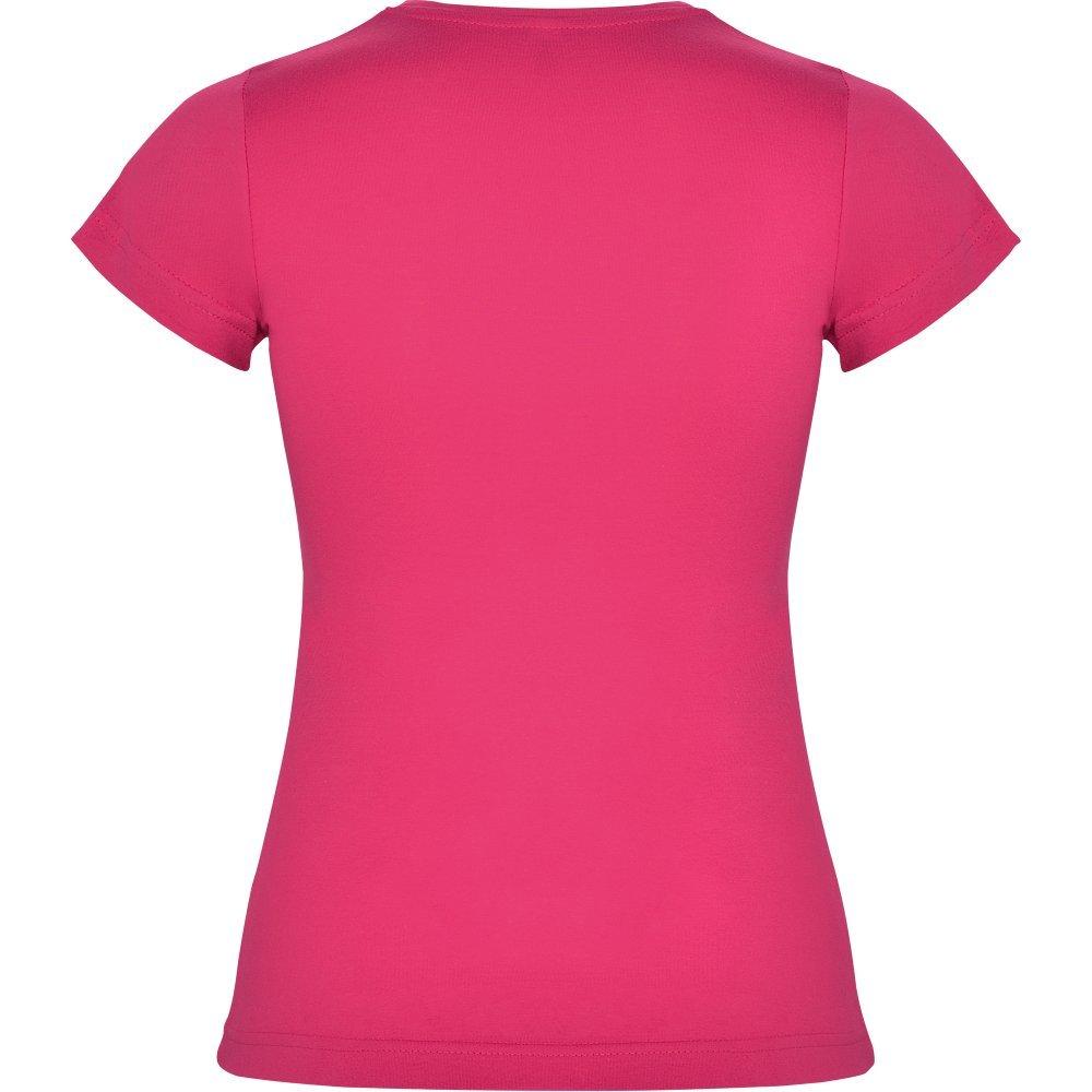 Roly Camiseta Rosa Oscuro para Mujer, Manga Corta, 100% algodón: Amazon.es: Ropa y accesorios