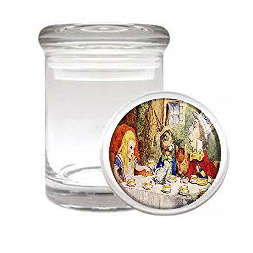 Vintage Alice in Wonderland D11 Medical Glass Jar 3