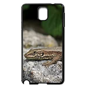 Samsung Galaxy Note 3 Case Lizard Time to E out for Boys, Samsung Galaxy Note 3 Case Tyquin, [Black]