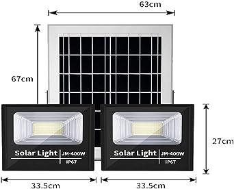 400W Solar Foco Proyector LED Exterior, IP67 a prueba de agua ...