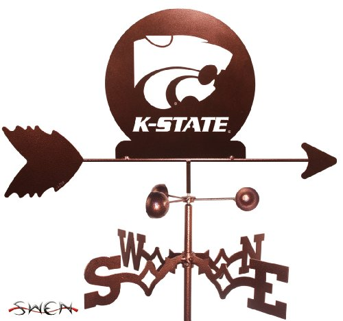 Hand Made KANSAS STATE WILDCATS FLAT POST Mount Weathervane ~NEW~ 51SqE74gHIL