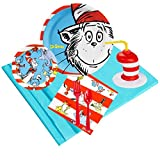 Dr Seuss Cat in the Hat Party Supplies Pack with Favor Cups (16)