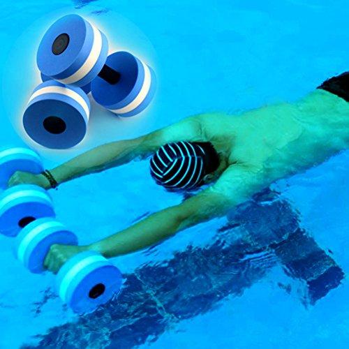 WINOMO 2PCS Aquatic Exercise Dumbells EVA Water Barbells For Water Resistance Aerobics