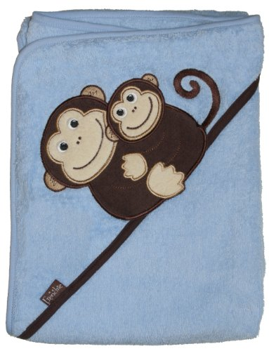 Frenchie Mini Couture Extra Large 40x30 Absorbent Hooded Towel Green Monkey