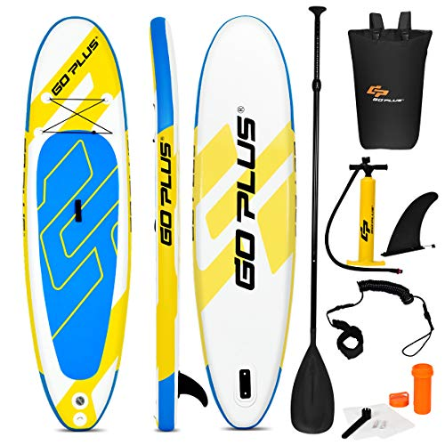 Goplus Inflatable Stand Up Paddle Board, 6