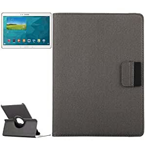 Cloth texture 360 ° Rotation Leather Funda Case Cover + Lápiz GRATIS con Card Slot & Wallet & Holder para Samsung Galaxy Tab S 10.5/T800 (Grey)