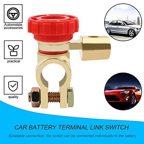 KNOSSOS Interruttore di Collegamento terminale Batteria Batteria Auto Universale Autoaccessorio per Camion Accessori Rosso e Dorato