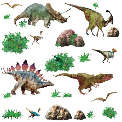 - RoomMates RMK1882SCS Dinosaur Peel & Stick Wall Decals, Multicolor