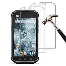 (2 Pack) CAT S40 Screen Protector, Gzerma Shockproof, Scratch Resistant, Bubble Free, Crystal Clear Protective Film for Caterpillar CAT S40 Smartphone