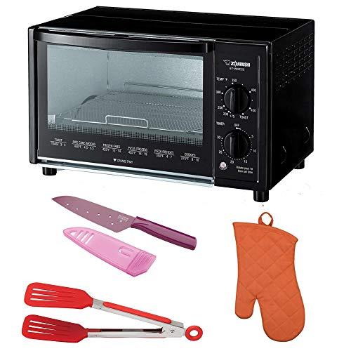 Zojirushi ET-WMC22 Toaster Oven, 2-Slice, Black Includes Flipper Tongs, Knife and Oven Mitt
