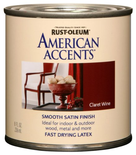 - Rust-Oleum 7945730 American Accents 1/2 Pint Latex, Satin Claret Wine