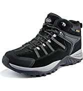 Wantdo Men's Waterproof Hiking Boots Winter Hiking Snow Boots Non Slip Work Shoes