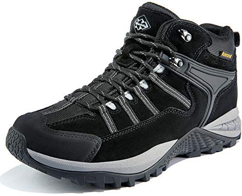 Wantdo Men's Waterproof Winter Hiking Snow Boots Non Slip Work Shoes Safety Footwear for Winter