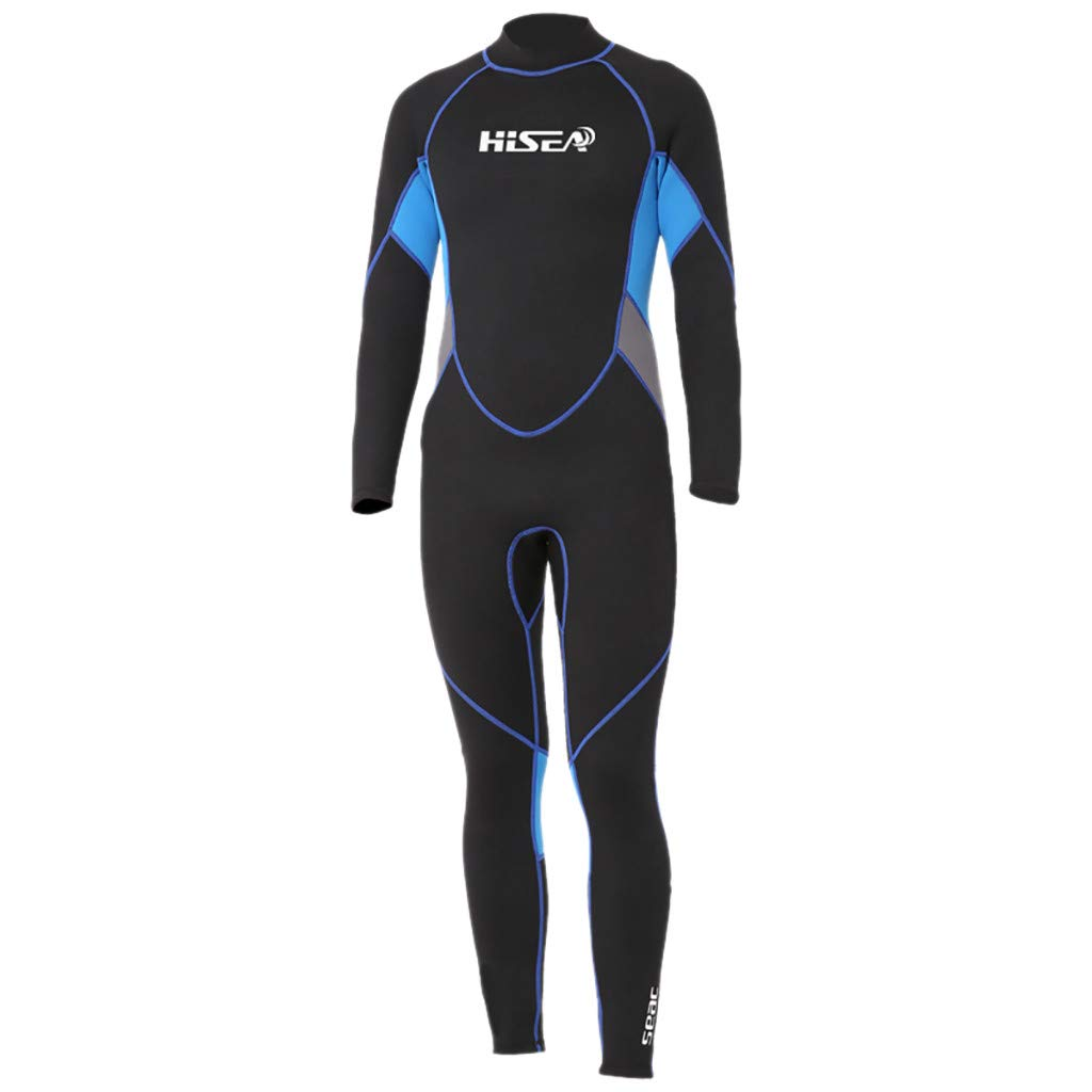 Allywit Wetsuits Mens 3MM Neoprene Scuba Diving One Piece Sport Skin Spearfishing Full Suit Black