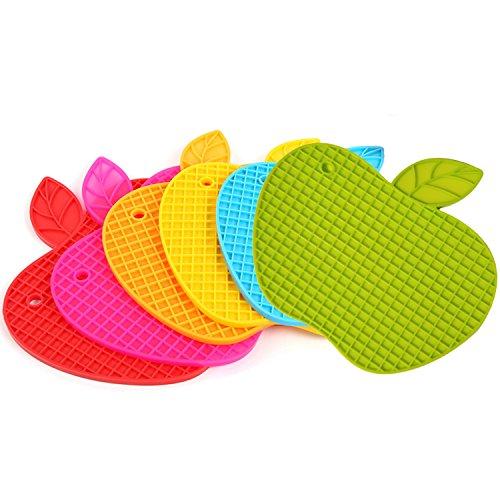 Bettli Silicone Non-Slip Pot Holder/Trivet Mat/Coaster/Placemat (Apple) ()