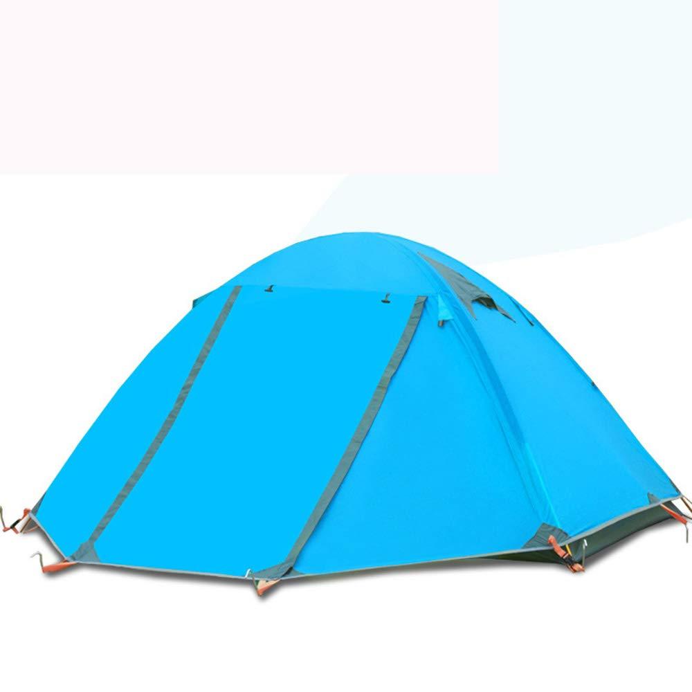 MMTC Camping Camping Zelt Outdoor-Doppel 3-4 Personen Doppel-Aluminium-Stange Wild Winddicht Anti-Sturm-Regenfestes Zelt